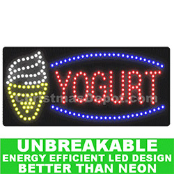 Flashing LED Lighted Yogurt Sign