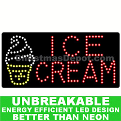 LED Flashing Lighted Ice Cream Sign