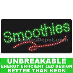 Flashing LED Lighted Smoothies Sign