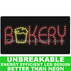 Flashing LED Lighted Bakery Sign