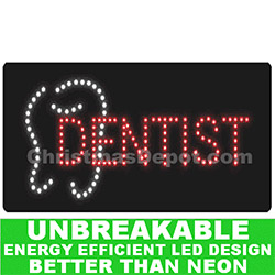 Flashing LED Lighted Dentist Sign