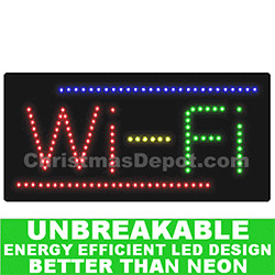 Flashing LED Lighted WiFi Sign