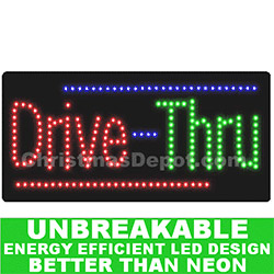 Flashing LED Lighted DriveThrough Sign