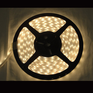 153 Foot Dimmable LED White Tape Lights 4 Wire