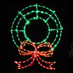 Christmas Wreath LED Lighted Outdoor Christmas Decoration
