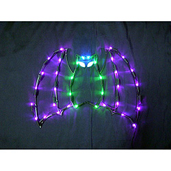 Batty Bat LED Lighted Window Halloween Decoration