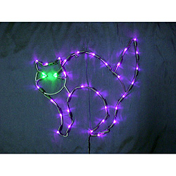 Scaredy Cat LED Lighted Window Halloween Decoration