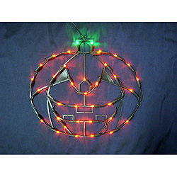 18 Inch Pumpkin Lighted Window Decoration  35 LED Lights