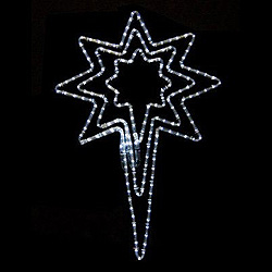 32 Inch Pure White Star Of Bethlehem Lighted Outdoor Decoration 205 LED Lights