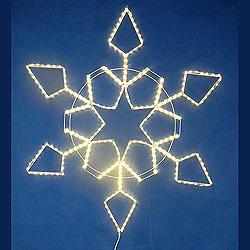 60 Inch LED Warm White Snowflake Star