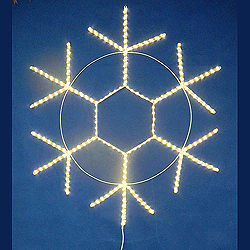 60 Inch Warm White LED Snowflake