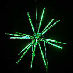 30 Inch Green LED Animated Star Burst Lighted Decoration