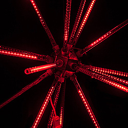 30 Inch Red LED Animated Star Burst Lighted Decoration