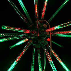 30 Inch Red And Green LED Animated Star Burst Lighted Decoration