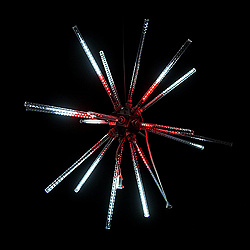 30 Inch Red And Pure White LED Animated Star Burst Lighted Decoration