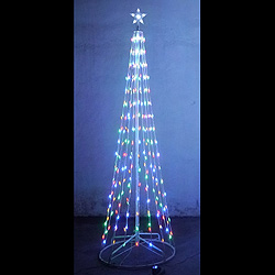 8 Foot Christmas Tree Lighted Outdoor Decoration M5 LED Multi Function Multi Lights