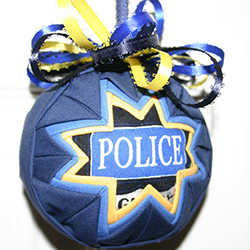 3 Inch Law Enforcement Ornament
