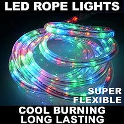 30 Foot LED Multi Rope Lights 10MM Ribbon 3 Inch Increments