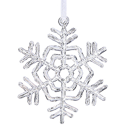 5 Inch Clear Acrylic Snowflake 12 per Set