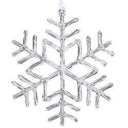 9 Inch Clear Acrylic Snowflake Christmas Ornament