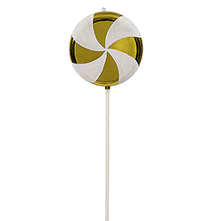24 Inch Lime And White Swirl Lollipop Set Of 2