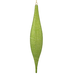 13 Inch Lime Matte Glitter Skinny Drop Ornament