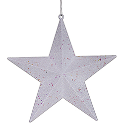 12 Inch White Glitter Star Ornament