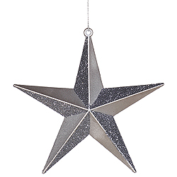 12 Inch Silver Glitter Star Ornament