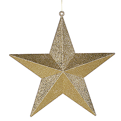 24 Inch Gold Glitter Star Decoration
