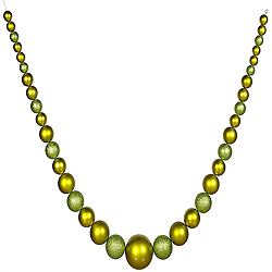 11 Foot Lime Green with Candy Apple Ball Ornament Garland - Shatterproof