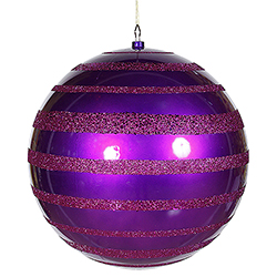 16 Inch Purple Glitter Swirl Shiny Ball Decoration