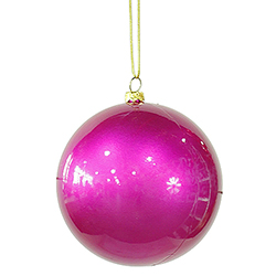 4 Inch Cerise Candy Finish Shatterproof Ball