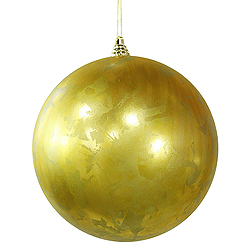 10 Inch Antique Gold Foil Finish Round Ornament
