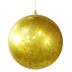 12 Inch Antique Gold Foil Finish Round Christmas Ball Ornament