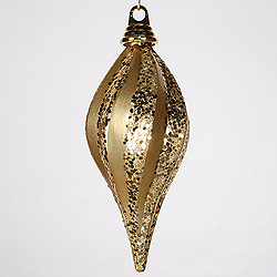 16 Inch Gold Candy Glitter Swirl Drop Ornament