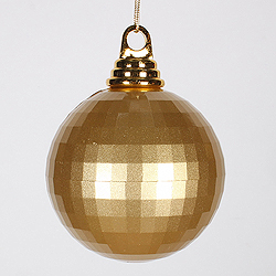 4 Inch Gold Candy Mirror Round Ornament