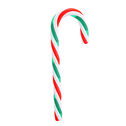 6 Inch Red White And Green Candy Cane Ornament 12 per Set