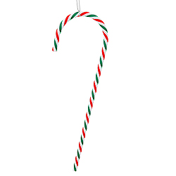 18 Inch Red White And Green Candy Cane Christmas Ornament 2 per Set