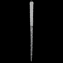 36 Inch Clear Glitter Icicle Ornament