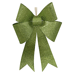24 Inch Lime Sequin Bow Ornament
