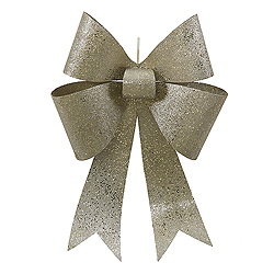 24 Inch Champagne Sequin Bow Ornament