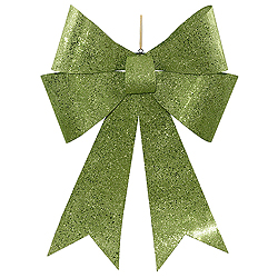 30 Inch Lime Sequin Bow Ornament