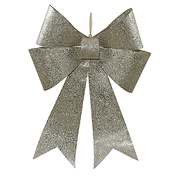 30 Inch Champagne Sequin Bow Ornament