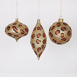 3 Assorted Gold Copper And Black Candy Ornament