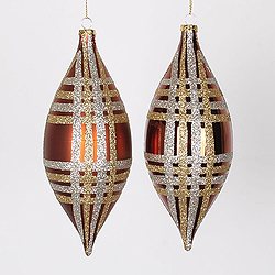 7 Inch Copper Champagne And Gold Drop Ornament Assorted Finishes 4 per Set
