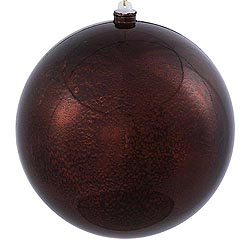 12 Inch Chocolate Shiny Mercury Round Ornament