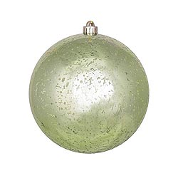 12 Inch Celadon Shiny Mercury Round Ornament