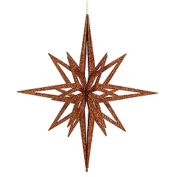 24 Inch Copper 3D Glitter Star Ornament