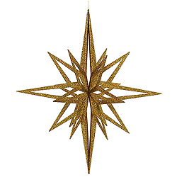 32 Inch 3D Gold Iridescent Glow Glitter Star Christmas Ornament