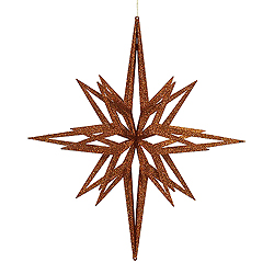 32 Inch Copper 3D Glitter Star Ornament